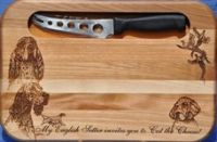Laser Engraved Cheese Board with Knife - US $ 36.00